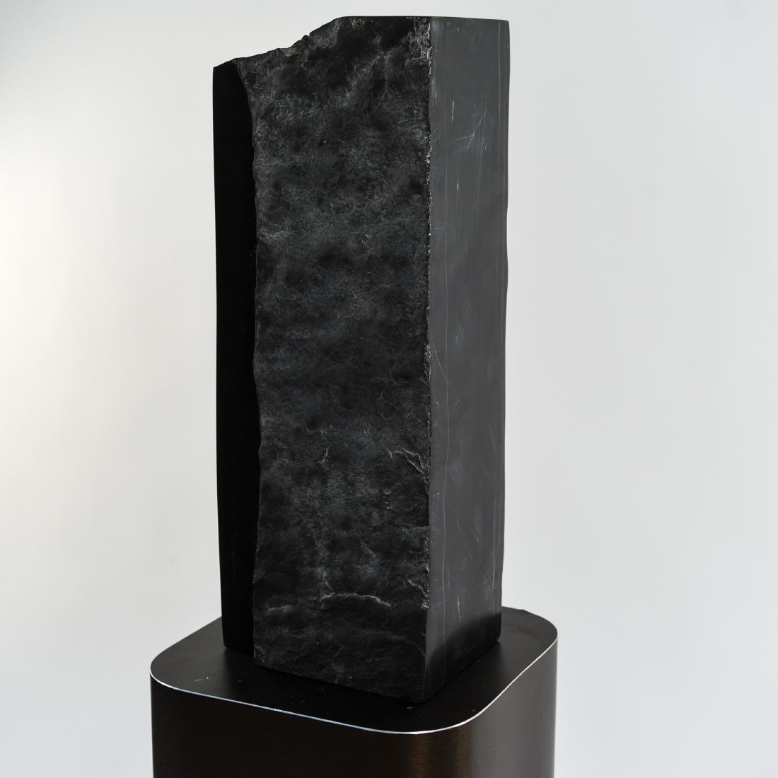 MANNER OF MINORU NIIZUMA BLACK MARBLE SCULPTURE - 5