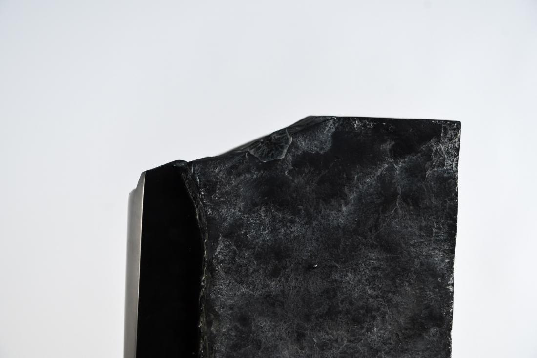 MANNER OF MINORU NIIZUMA BLACK MARBLE SCULPTURE - 6
