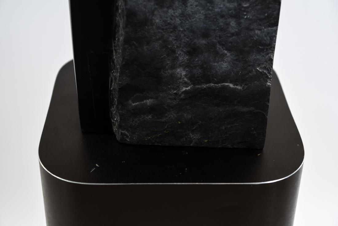 MANNER OF MINORU NIIZUMA BLACK MARBLE SCULPTURE - 7