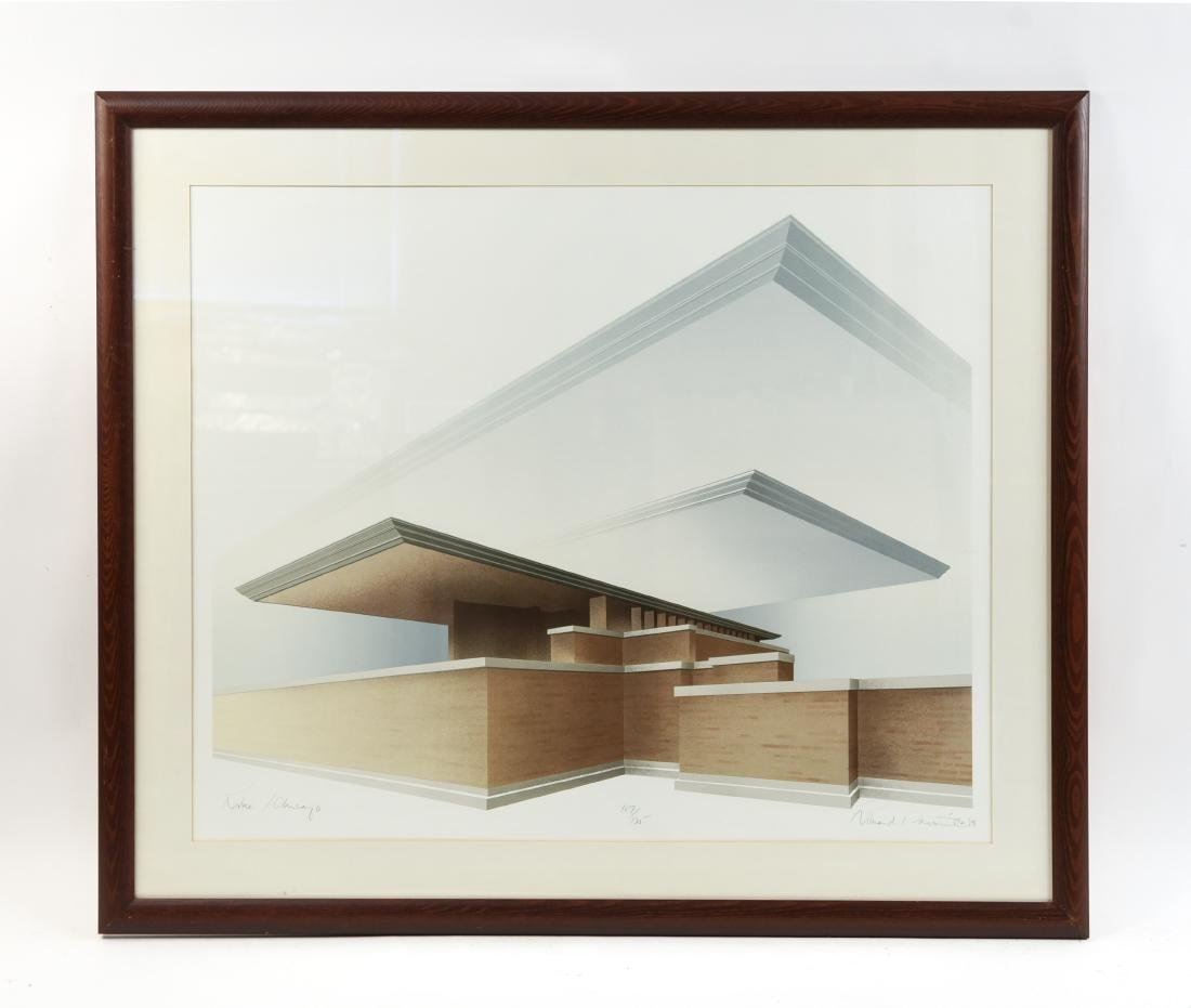 RICHARD DAVIS ARCHITECTURAL LITHOGRAPH II