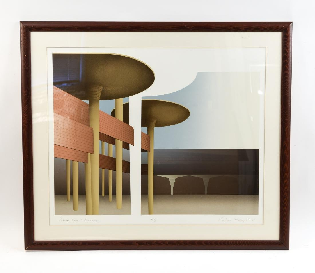 RICHARD DAVIS ARCHITECTURAL LITHOGRAPH III