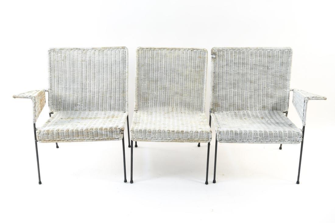 WICKER & IRON SECTIONAL SEAT BY VAN KEPPEL-GREEN