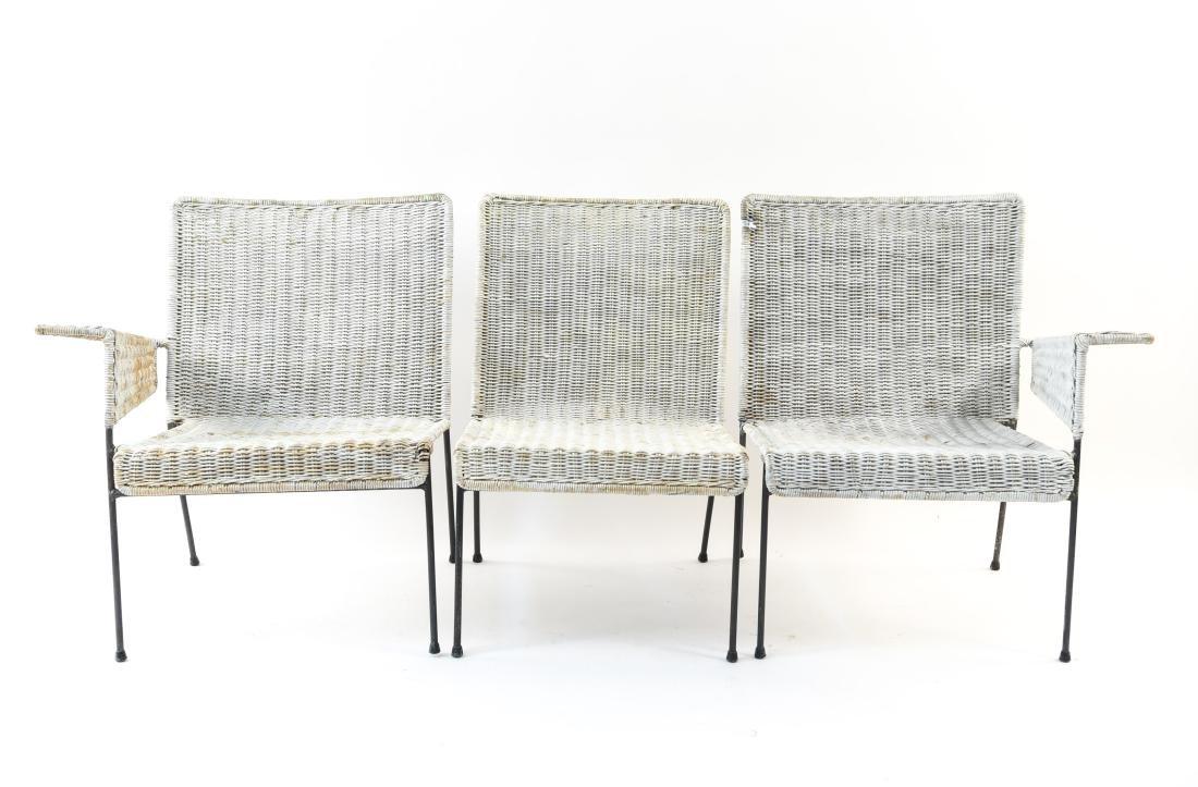 WICKER & IRON SECTIONAL SEAT BY VAN KEPPEL-GREEN - 2
