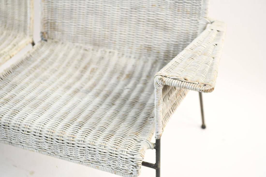 WICKER & IRON SECTIONAL SEAT BY VAN KEPPEL-GREEN - 7