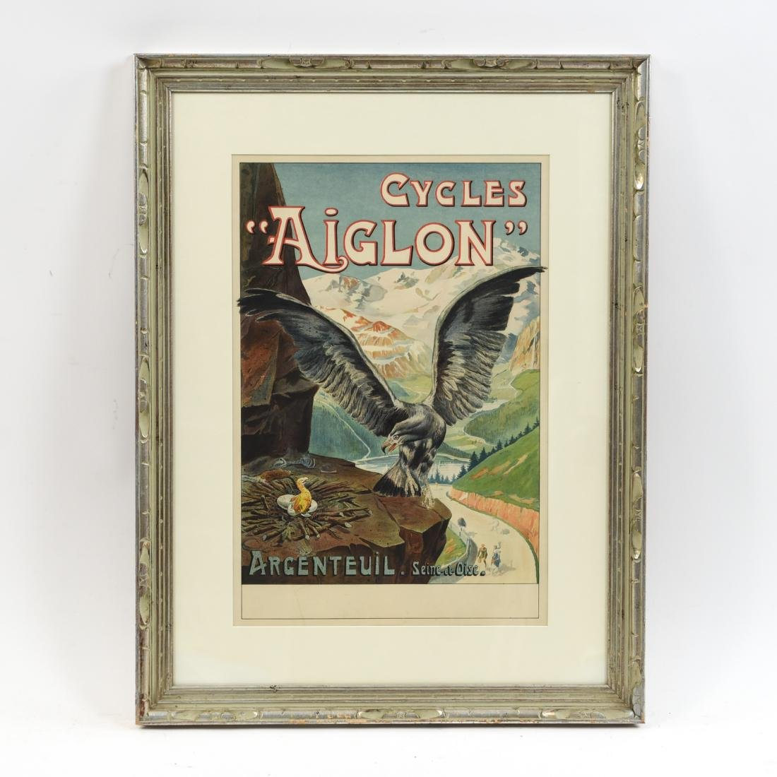 GEORGES VALLE VINTAGE AIGLON BICYCLE POSTER