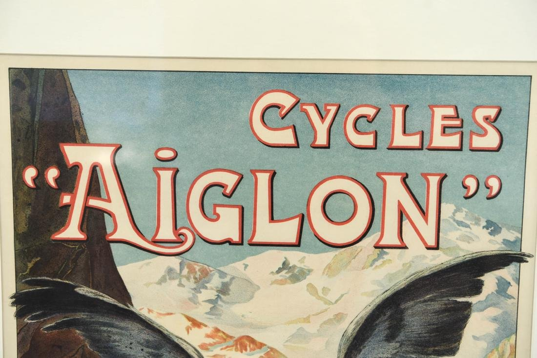 GEORGES VALLE VINTAGE AIGLON BICYCLE POSTER - 2