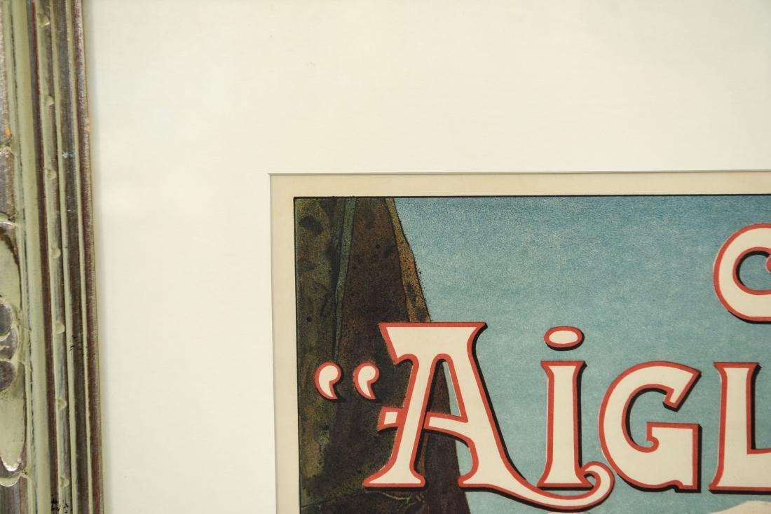 GEORGES VALLE VINTAGE AIGLON BICYCLE POSTER - 7