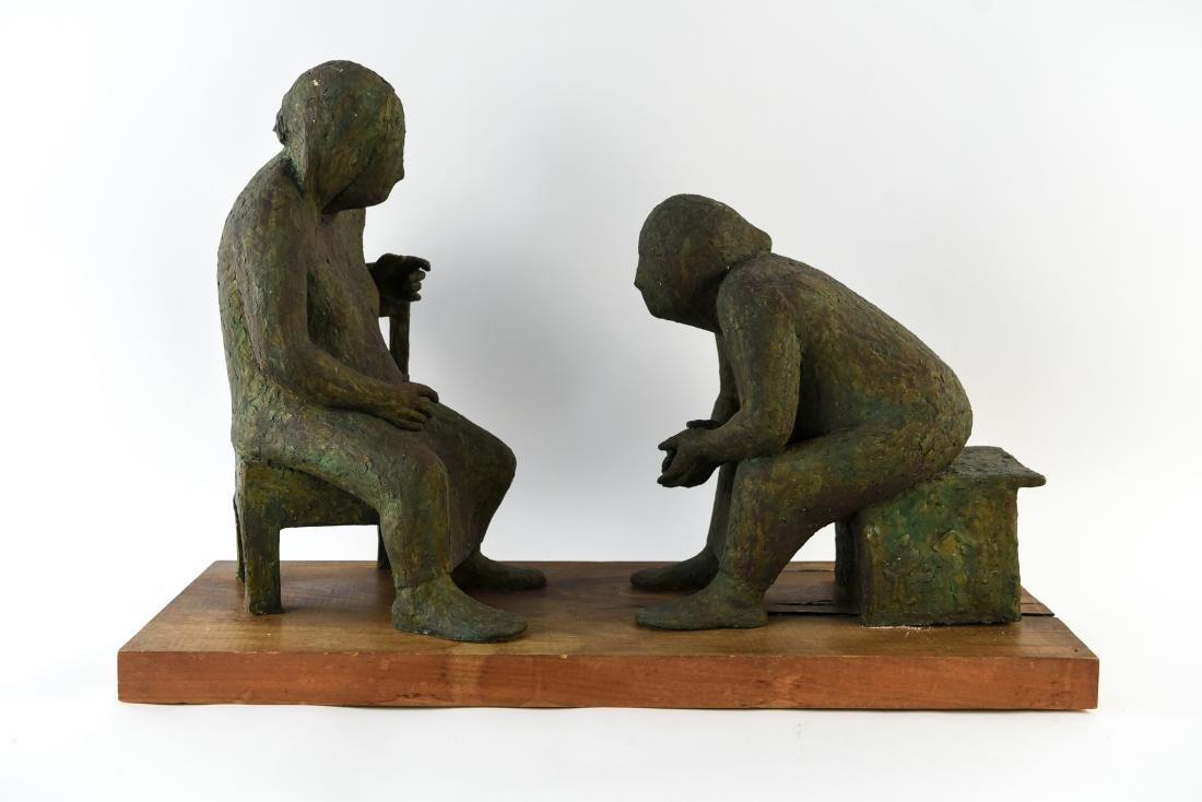 SYD GINSBERG MODERNIST CERAMIC SCULPTURE TWO
