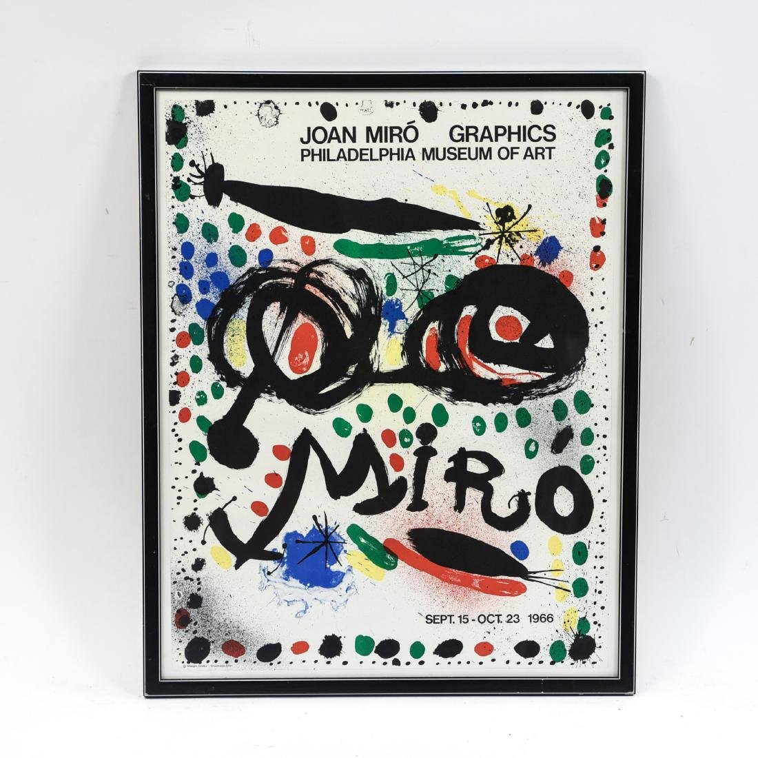 JOAN MIRO VINTAGE POSTER GRAPHICS 1966