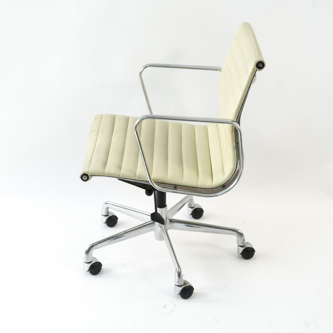 (6) EAMES STYLE LEATHER ARM CHAIRS - 10