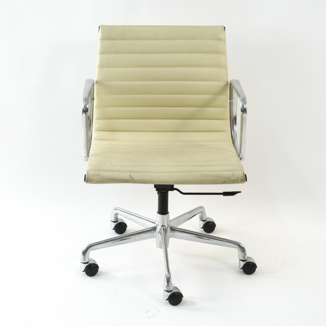 (6) EAMES STYLE LEATHER ARM CHAIRS - 3