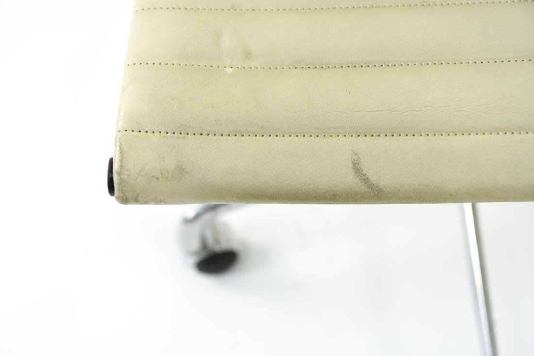 (6) EAMES STYLE LEATHER ARM CHAIRS - 4