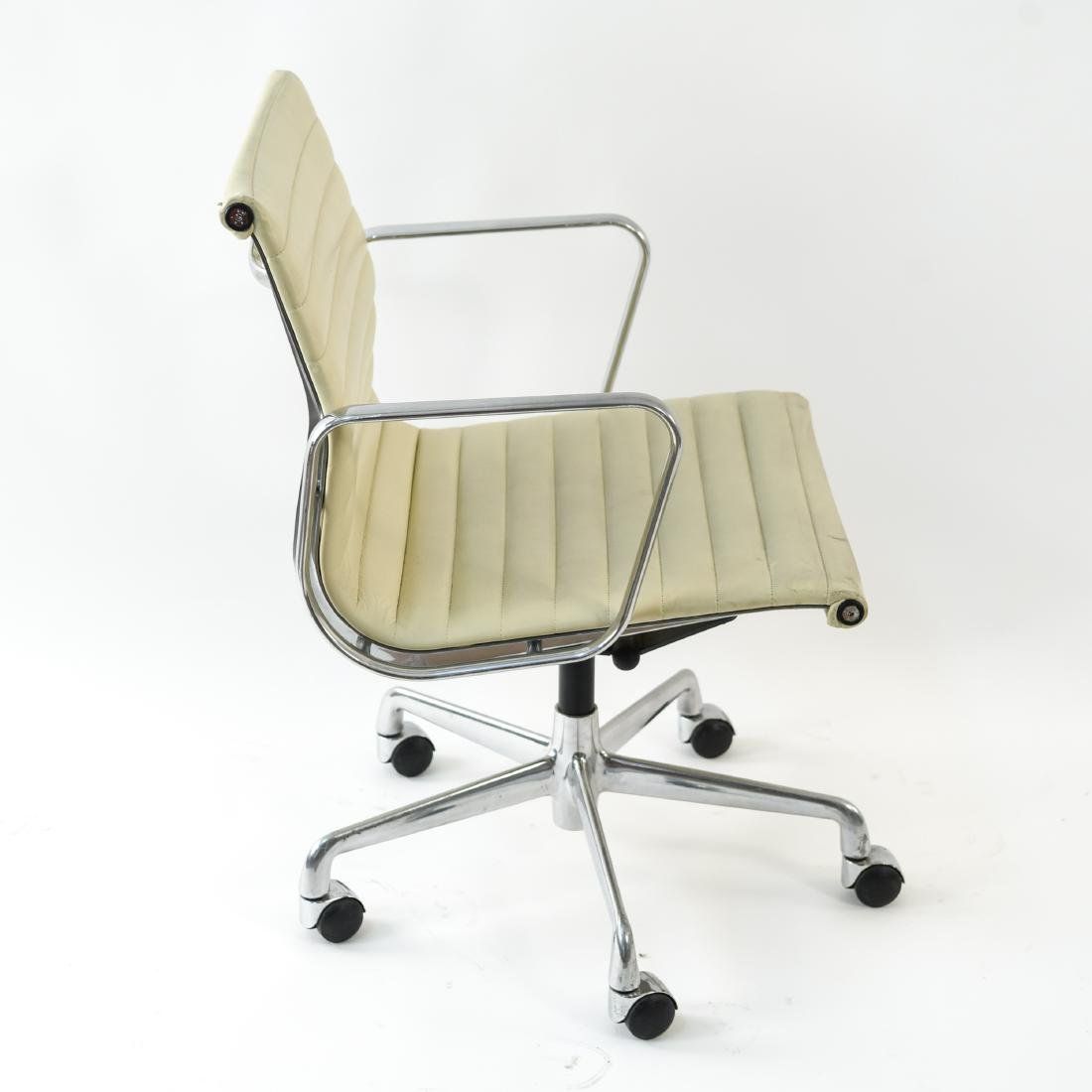 (6) EAMES STYLE LEATHER ARM CHAIRS - 5