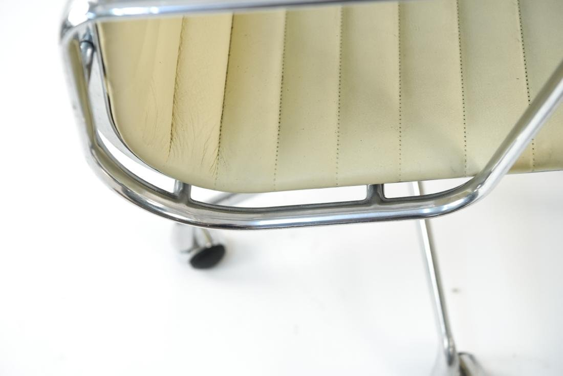 (6) EAMES STYLE LEATHER ARM CHAIRS - 6