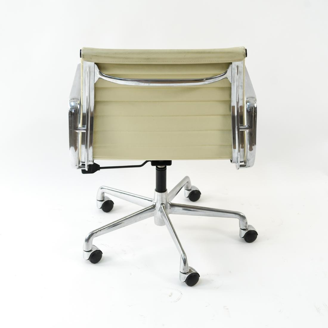 (6) EAMES STYLE LEATHER ARM CHAIRS - 9