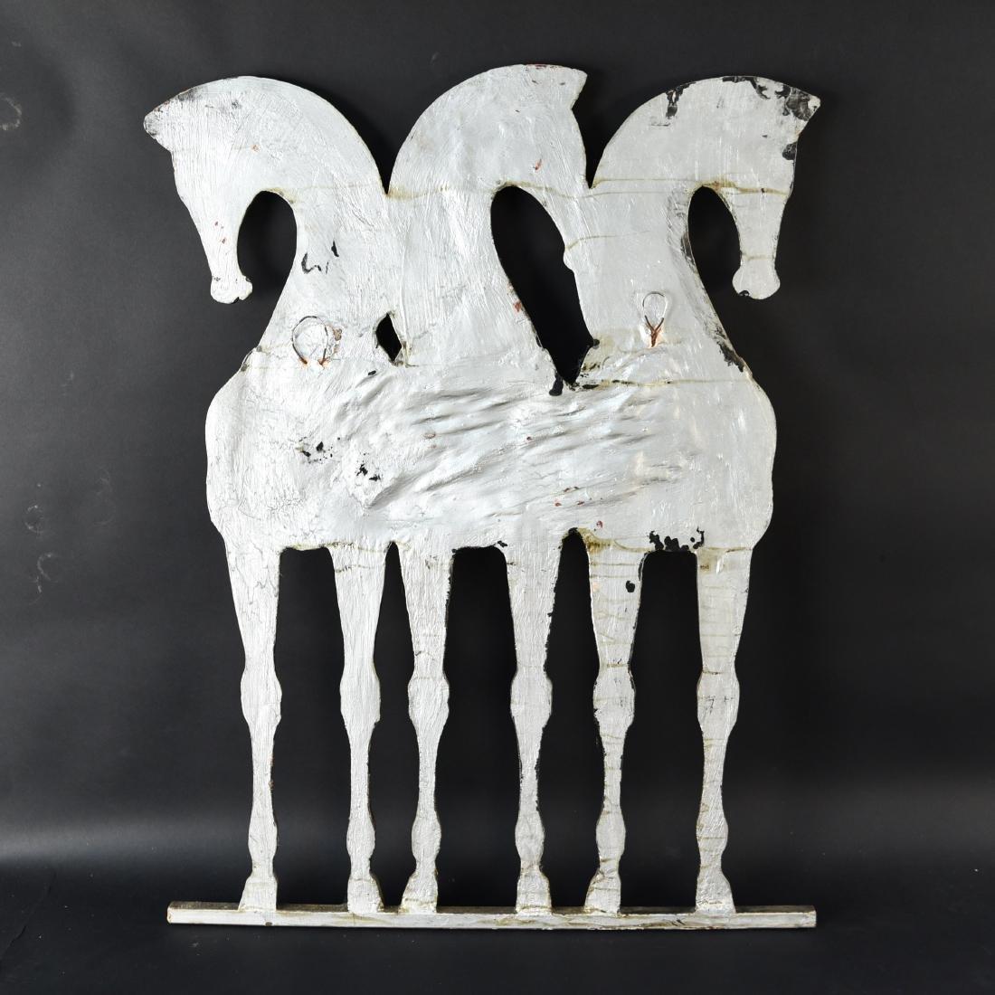 MID-CENTURY HORSE PLASTER RELIEF SCULPTURE - 10