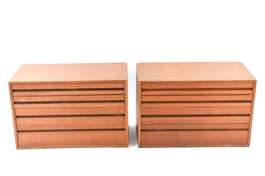 PAIR OF DANISH WALL UNIT CHEST OF DRAWERS