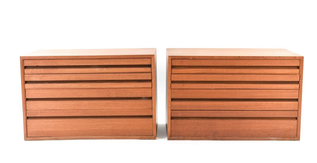 PAIR OF DANISH WALL UNIT CHEST OF DRAWERS - 2