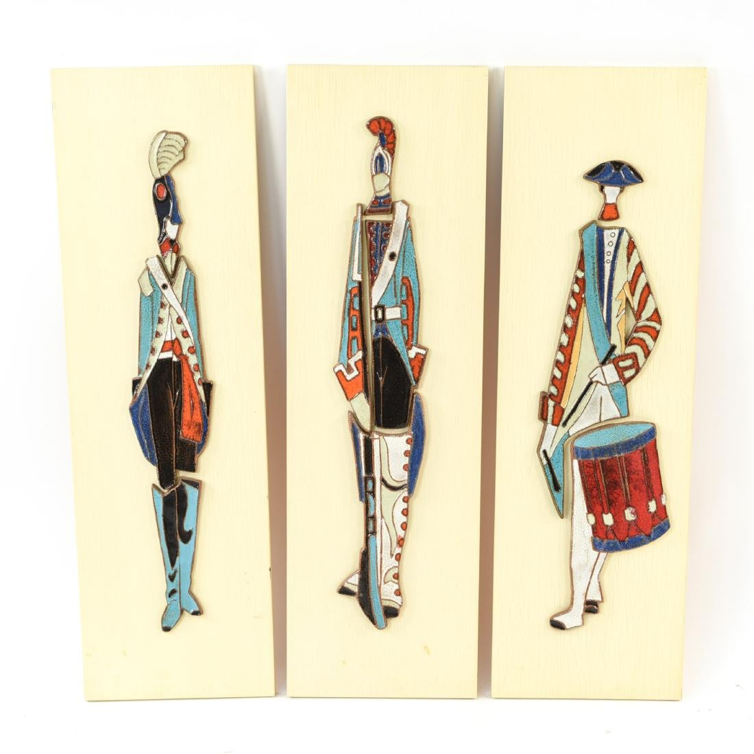 (3) ITALIAN CERAMIC RELIEF SCULPTURE PLAQUES