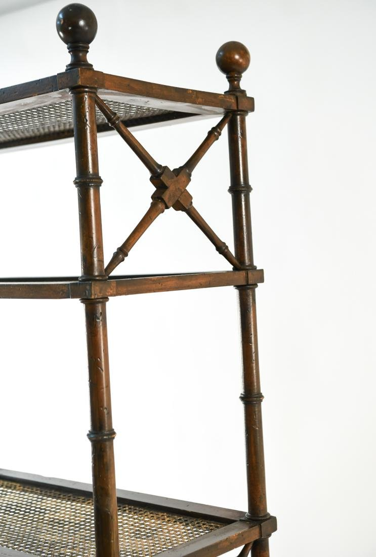 FAUX BAMBOO ETAGERE - 9