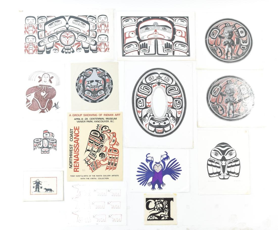 INUIT & NORTHWEST COAST INDIAN ART GROUPING