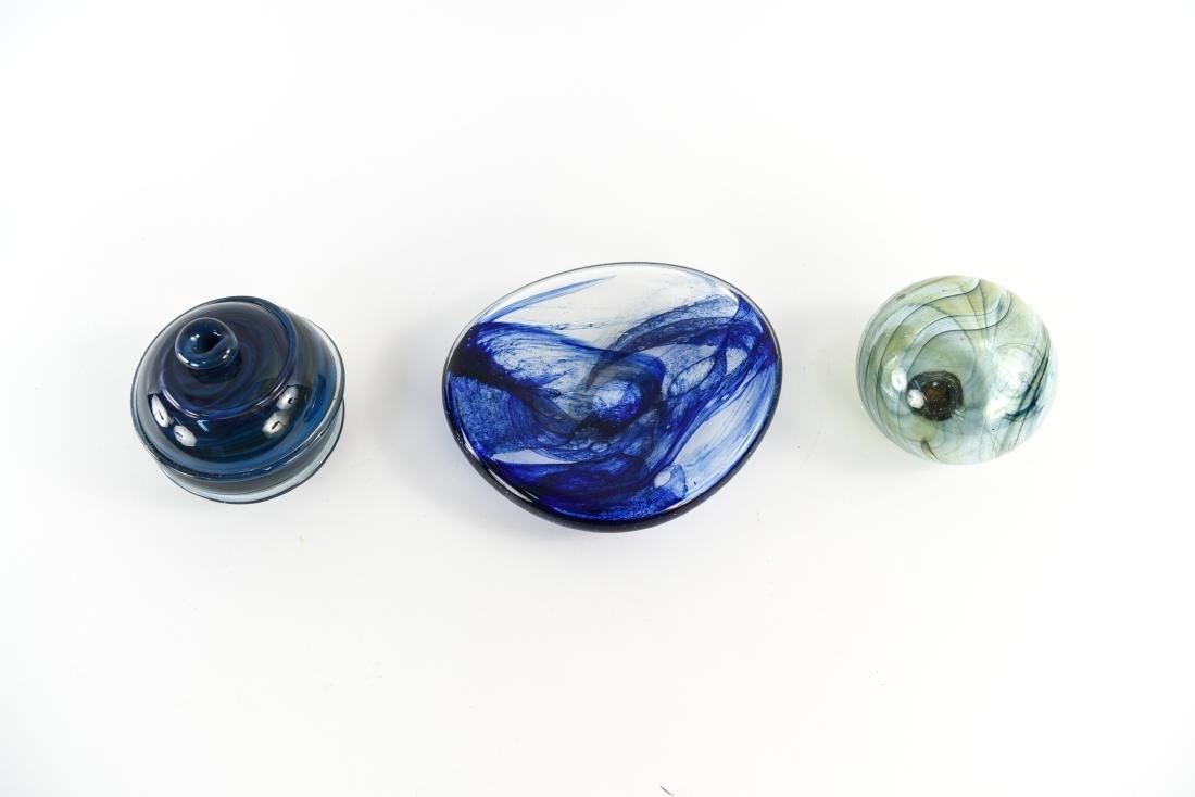 (3) PETER BRAMHALL (1942-) ART GLASS GROUPING - 2