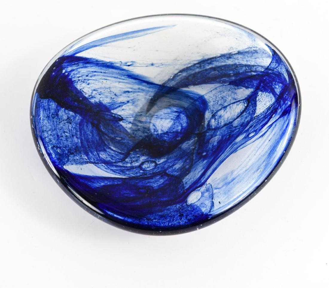 (3) PETER BRAMHALL (1942-) ART GLASS GROUPING - 9