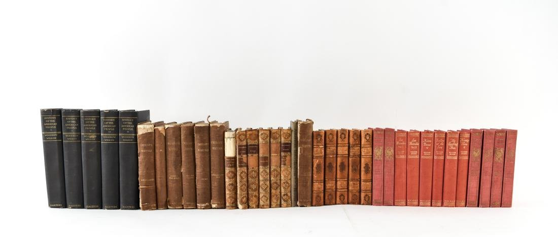 GROUPING OF LEATHER BOUND BOOKS - 2