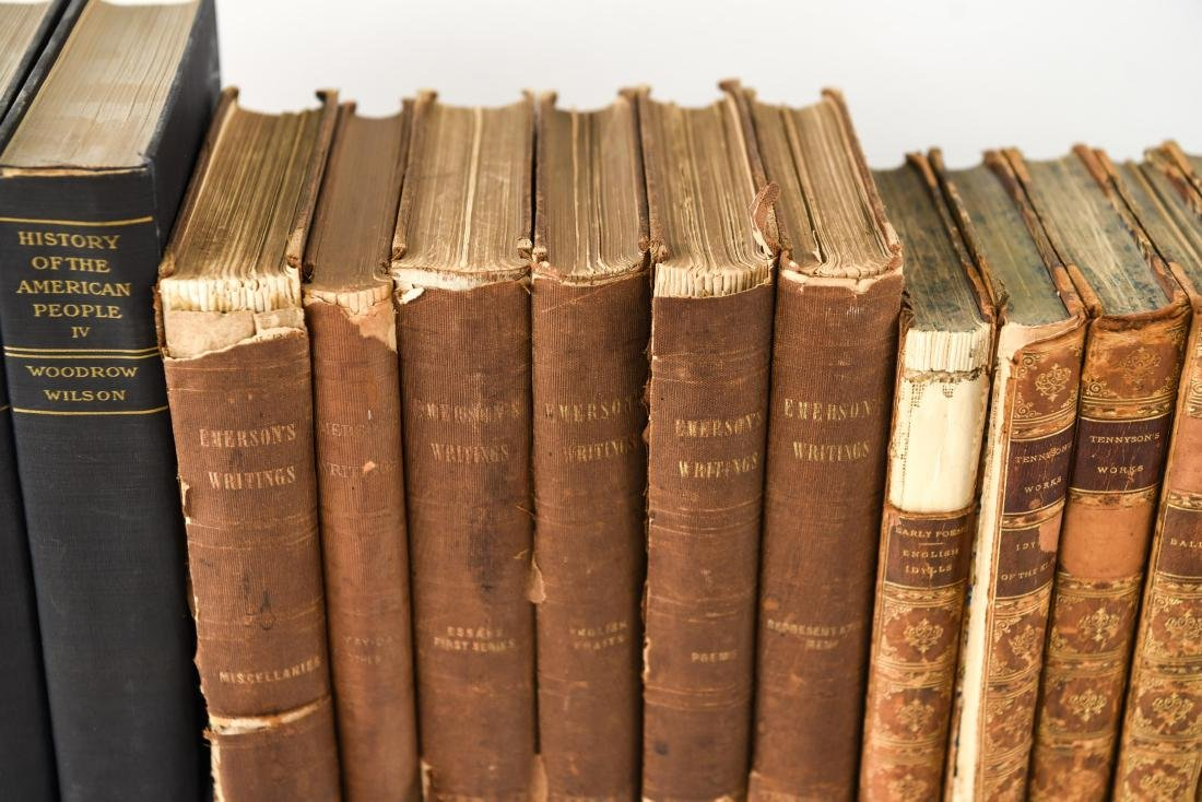 GROUPING OF LEATHER BOUND BOOKS - 4