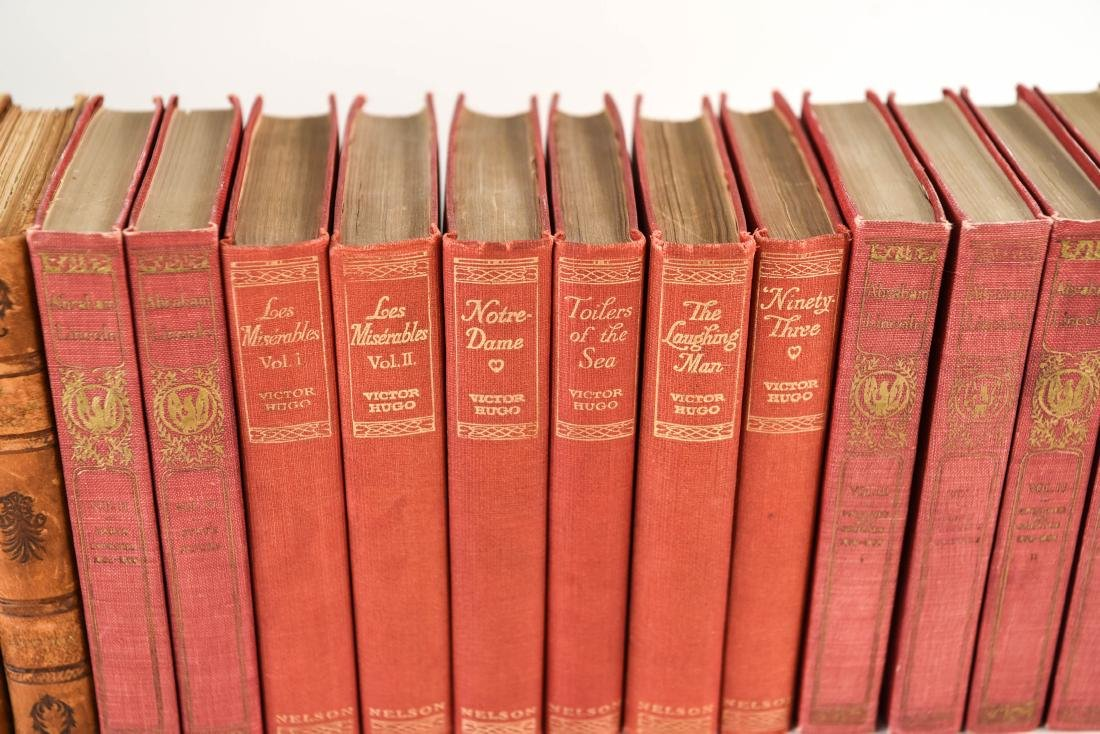GROUPING OF LEATHER BOUND BOOKS - 7