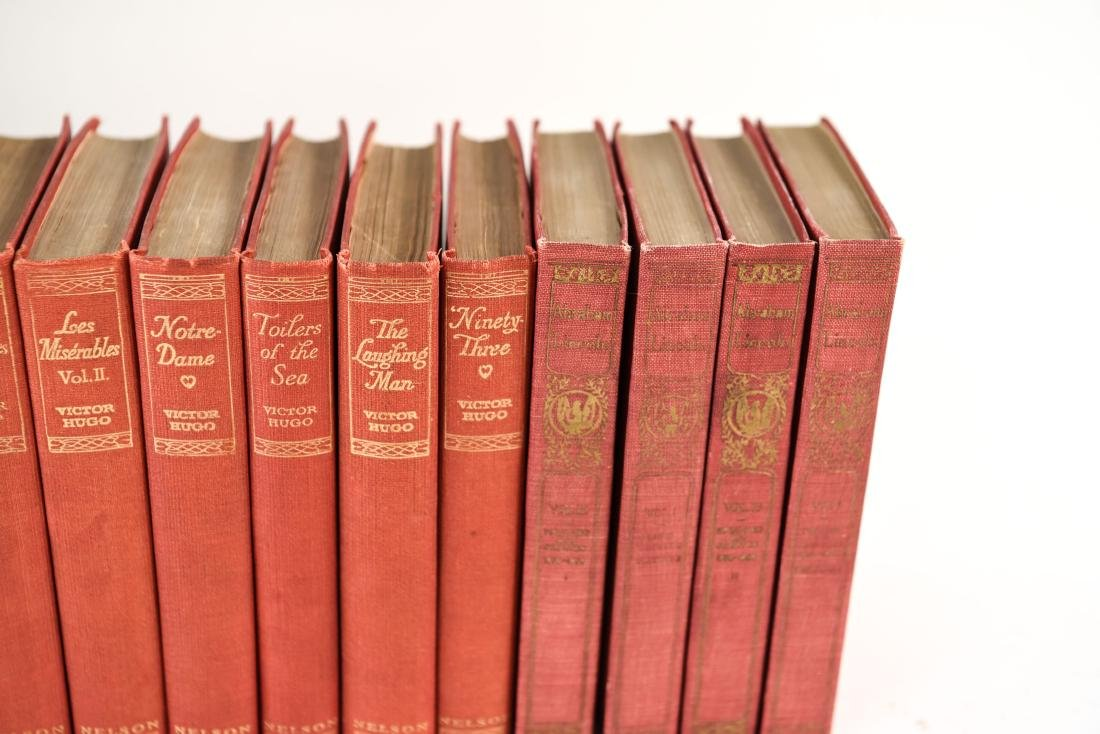 GROUPING OF LEATHER BOUND BOOKS - 8