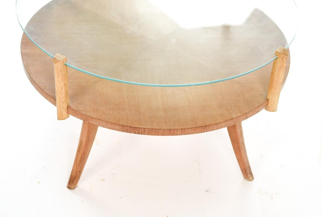 MID-CENTURY PICKLED OAK COFFEE TABLE - 10