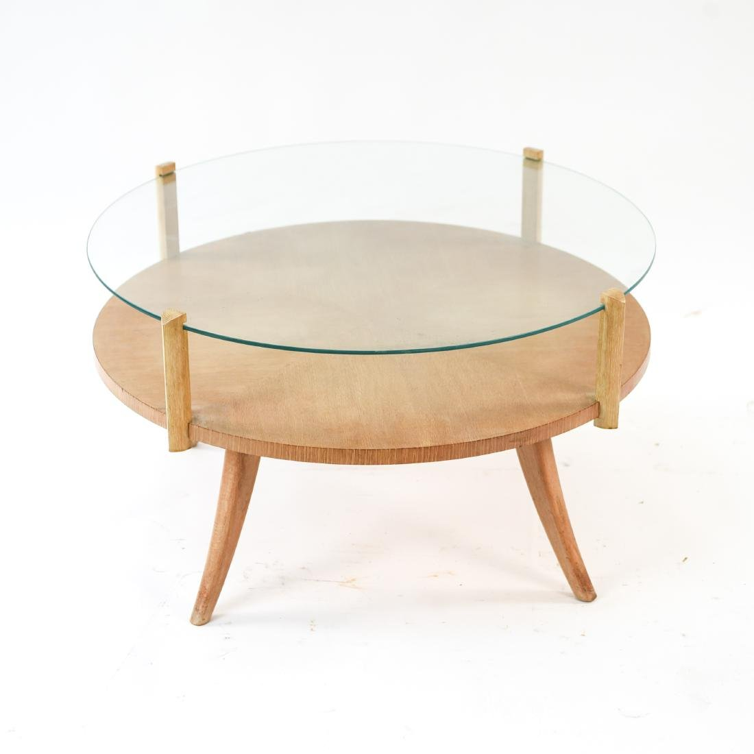 MID-CENTURY PICKLED OAK COFFEE TABLE