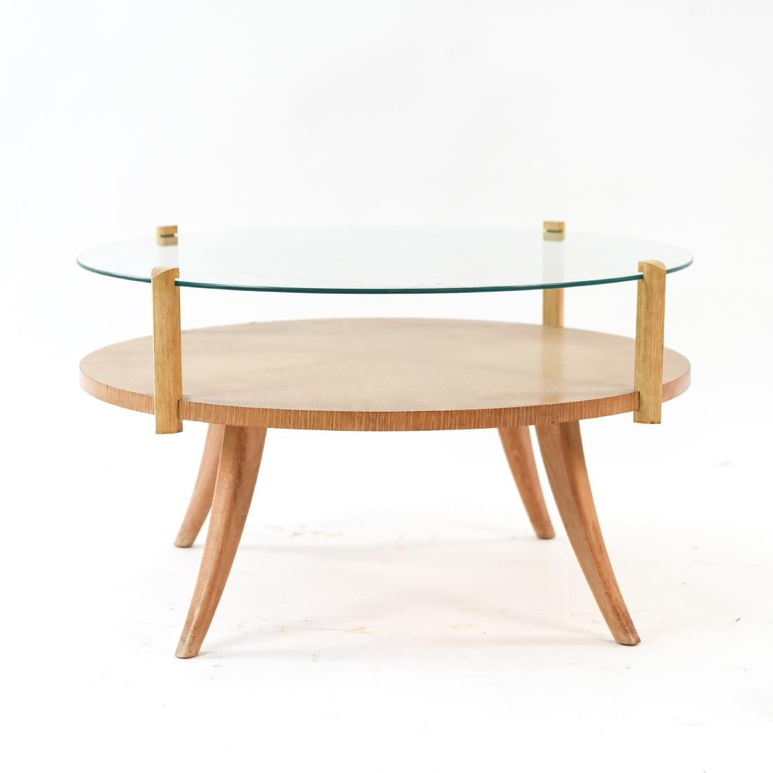 MID-CENTURY PICKLED OAK COFFEE TABLE - 2