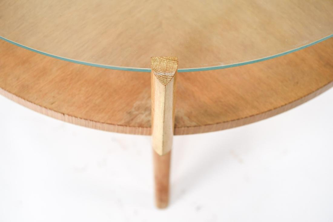 MID-CENTURY PICKLED OAK COFFEE TABLE - 3