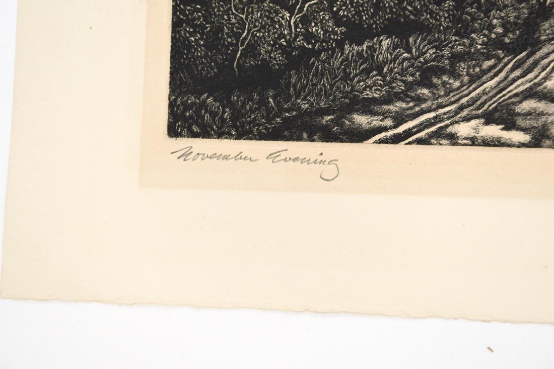 JACKSON LEE NESBIT (AMERICAN 1913-2008) ETCHING - 3
