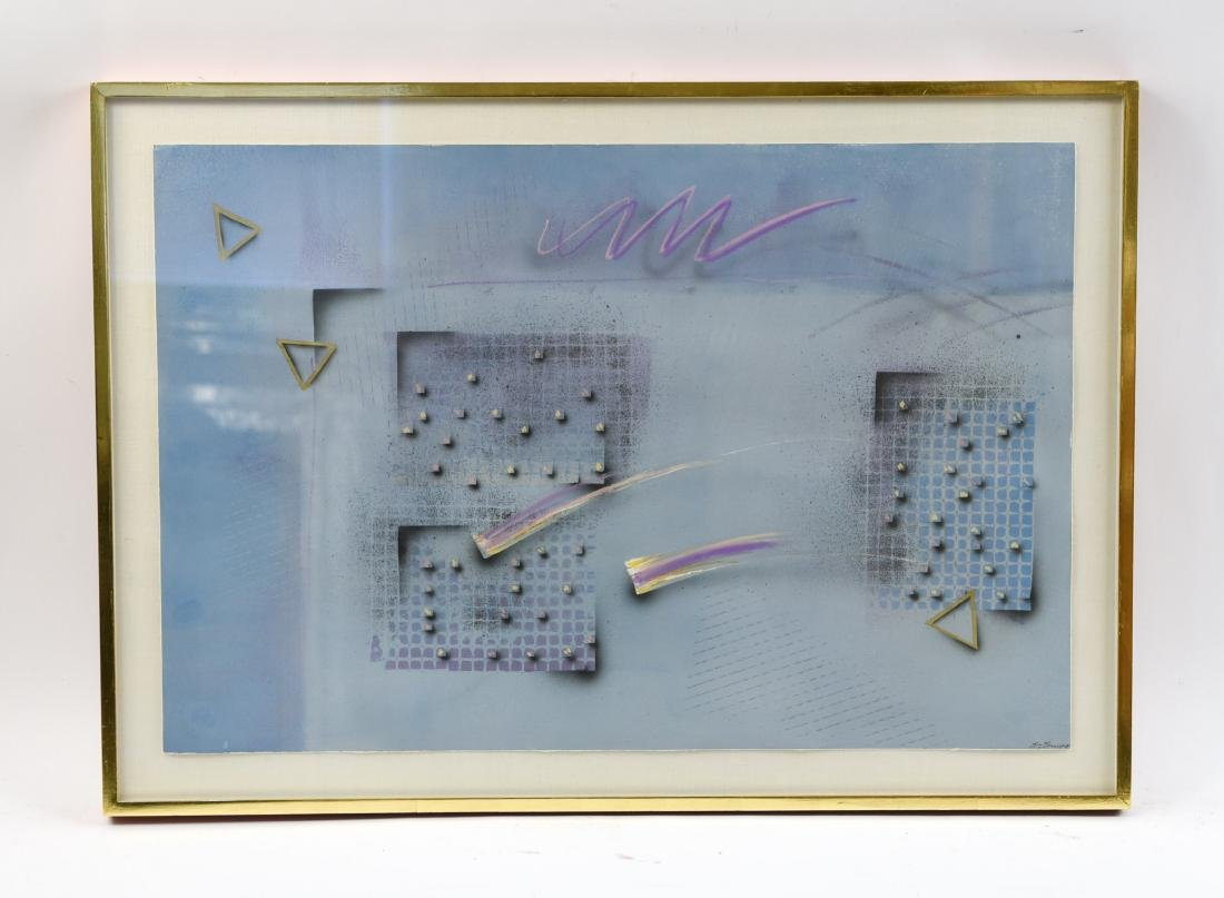 WILLIAM BENSON ABSTRACT EMBELLISHED SILKSCREEN