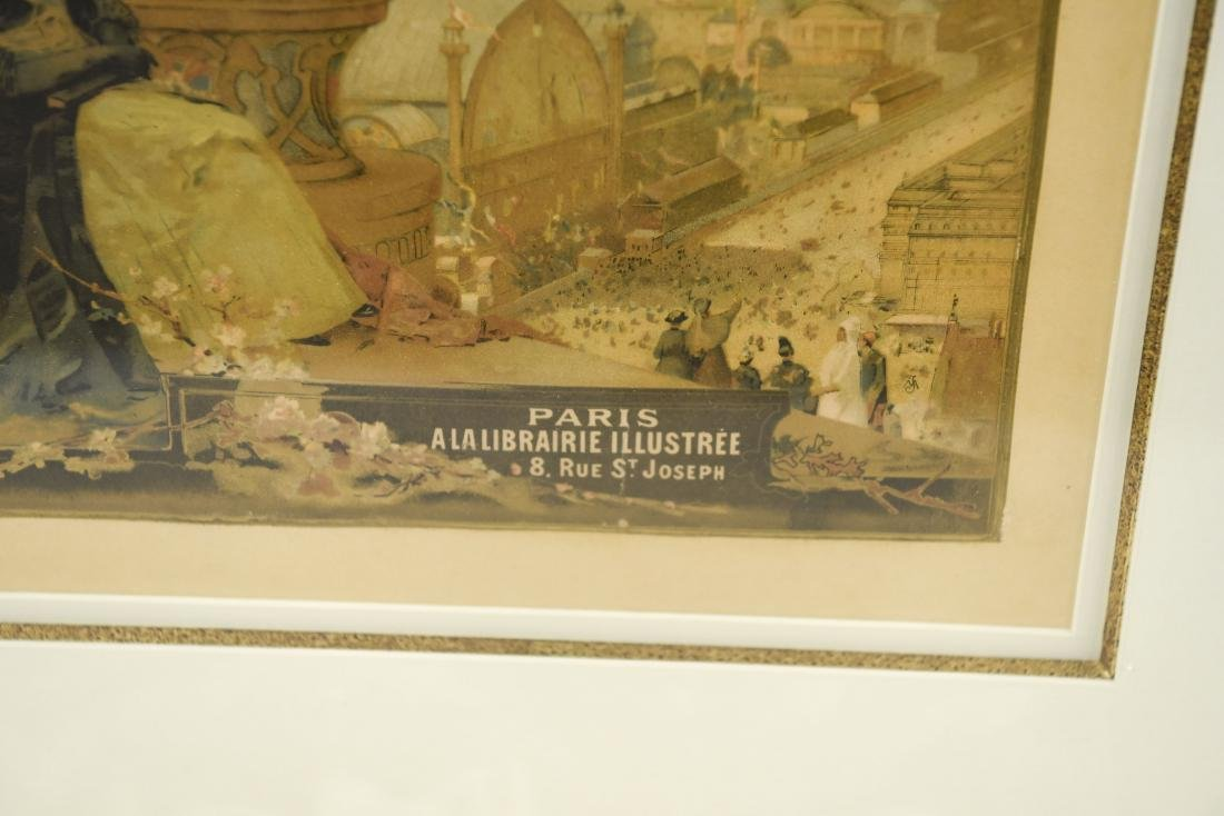 VINTAGE 1889 PARIS EXPOSITION POSTER - 3