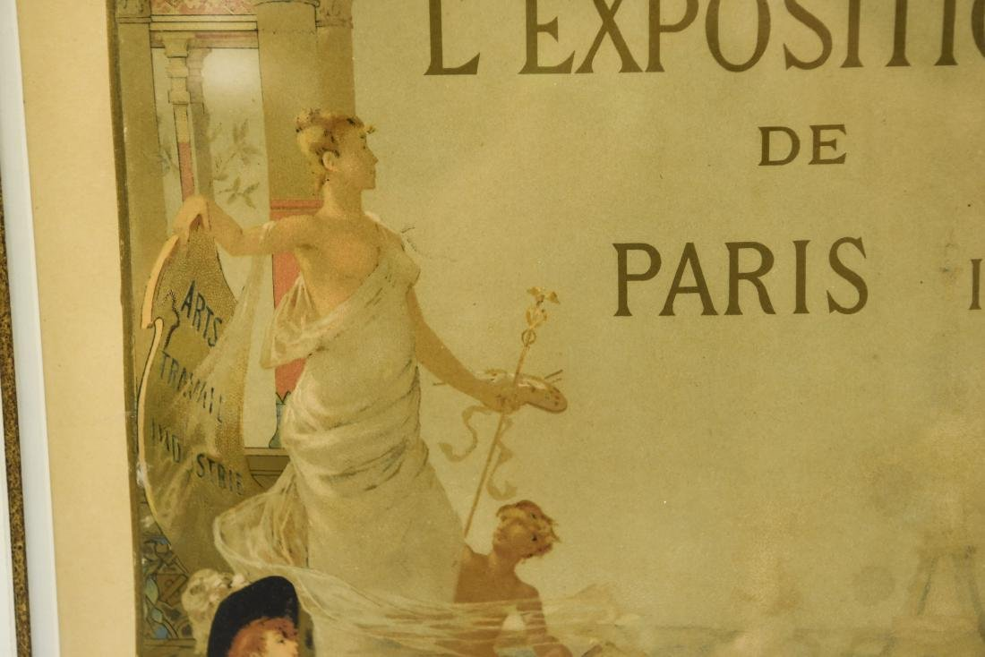 VINTAGE 1889 PARIS EXPOSITION POSTER - 5