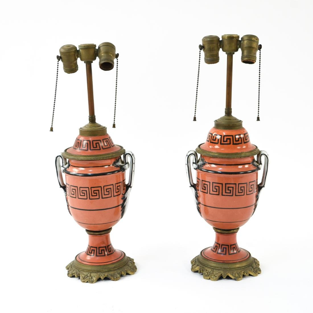 PAIR OF IRONSTONE LAMPS - 2