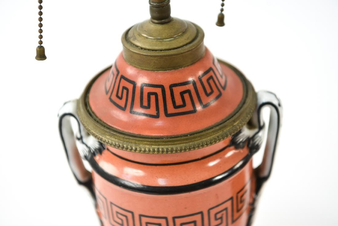 PAIR OF IRONSTONE LAMPS - 3