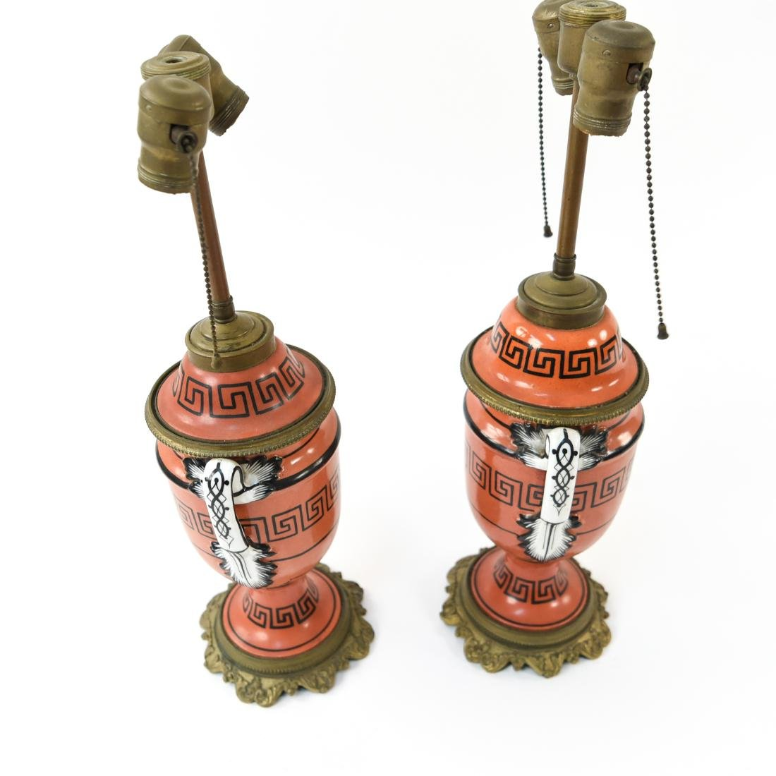 PAIR OF IRONSTONE LAMPS - 7