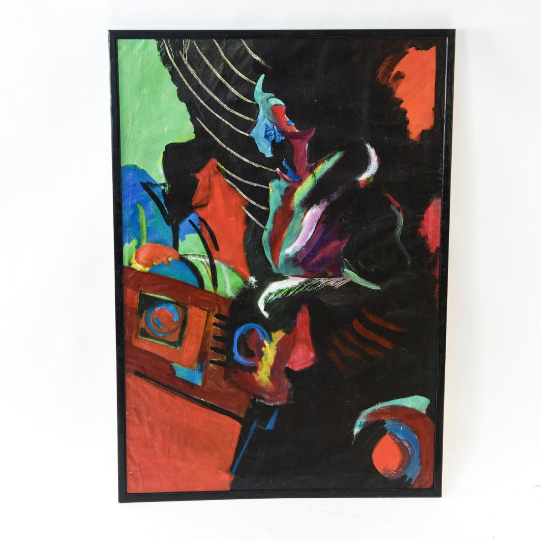 FIGURATIVE ABSTRACT OIL ON CANVAS PAINTING