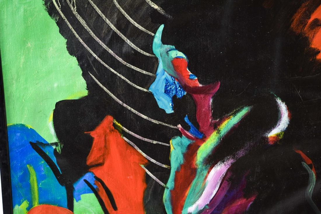 FIGURATIVE ABSTRACT OIL ON CANVAS PAINTING - 2