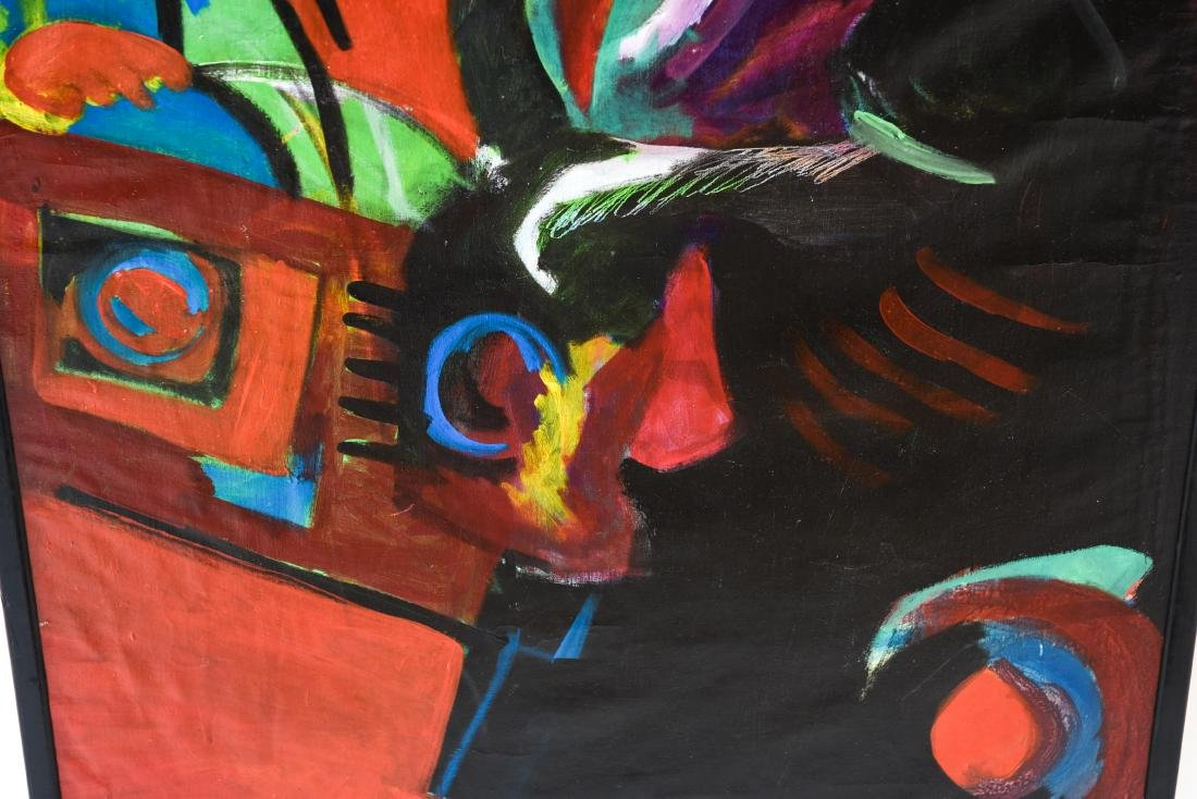 FIGURATIVE ABSTRACT OIL ON CANVAS PAINTING - 4