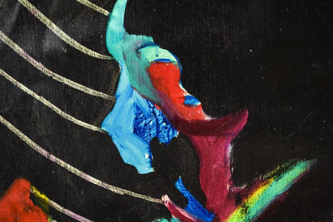 FIGURATIVE ABSTRACT OIL ON CANVAS PAINTING - 5