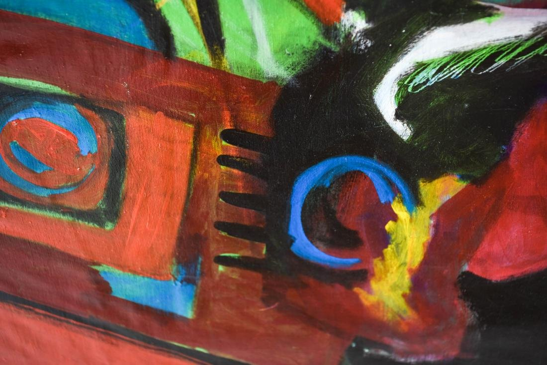 FIGURATIVE ABSTRACT OIL ON CANVAS PAINTING - 6