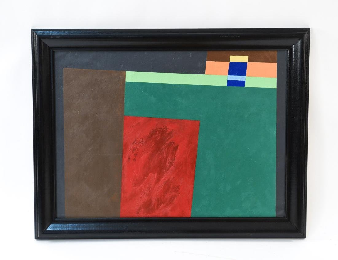 GEOMETRIC ABSTRACT PAINTING OIL ON CANVAS