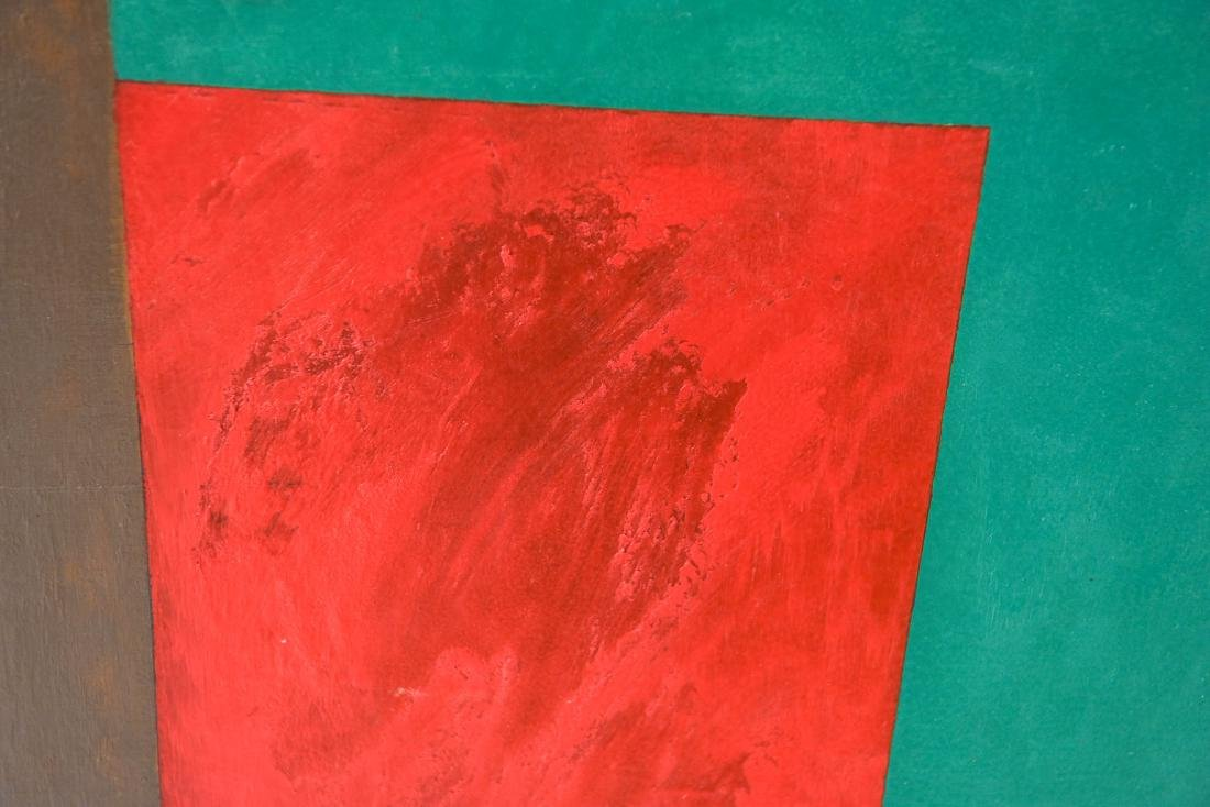 GEOMETRIC ABSTRACT PAINTING OIL ON CANVAS - 4
