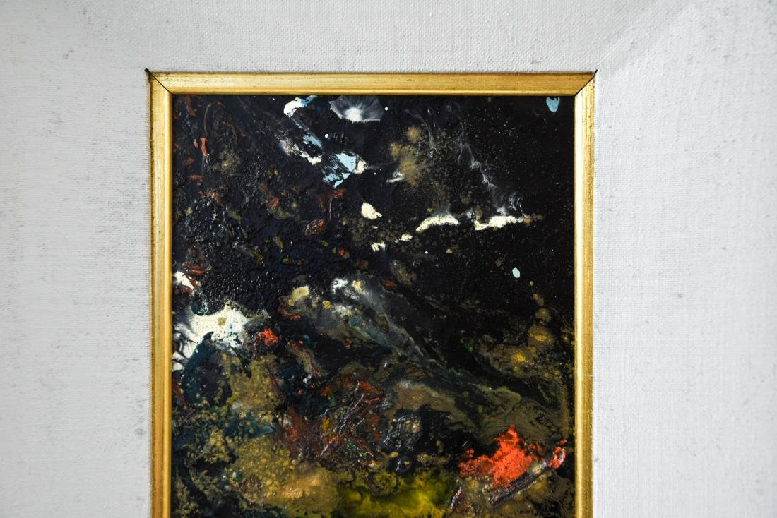 MID-CENTURY ABSTRACT EXPRESSIONIST OIL ON MASONITE - 2